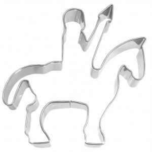 man on horse cookie cutter