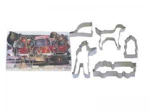 firefighter cookie cutter set