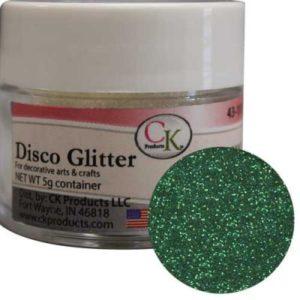 green disco glitter