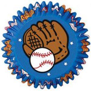 baseball cupcake paper cups