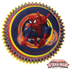 spiderman cupcake liners