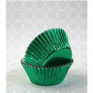 metallic cupcake paper