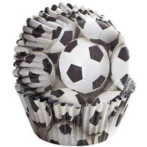 soccer cupcake liners
