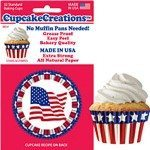 fourth of july cupcake paper