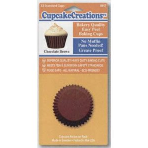 brown cupcake baking papers