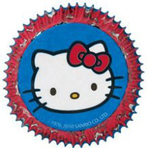 hello kitty paper cupcake liners