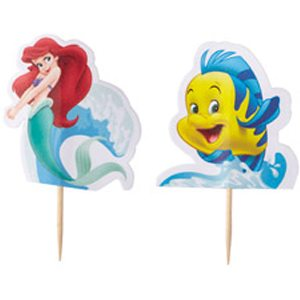 little mermaid cupcake sticks