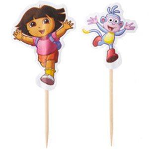 dora the explorer cupcake sticks