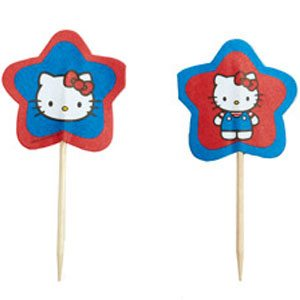 hello kitty cupcake decorations