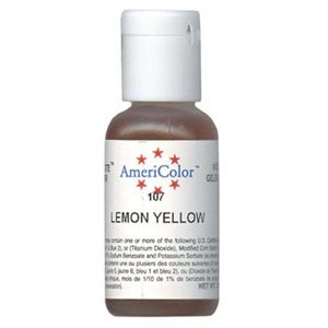 lemon yellow food coloring