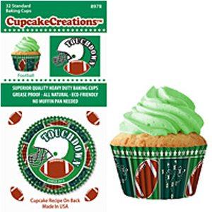 football cupcake liners