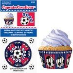 soccer cupcake baking papers