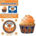 basketball cupcake papers