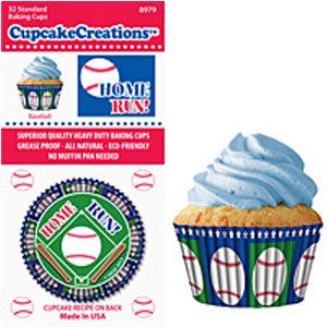baseball cupcake paper