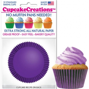 purple cupcake cups