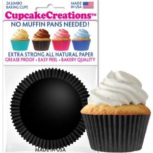 black cupcake baking cups