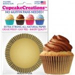 gold cupcake baking cups
