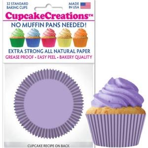 lavender cupcake cups