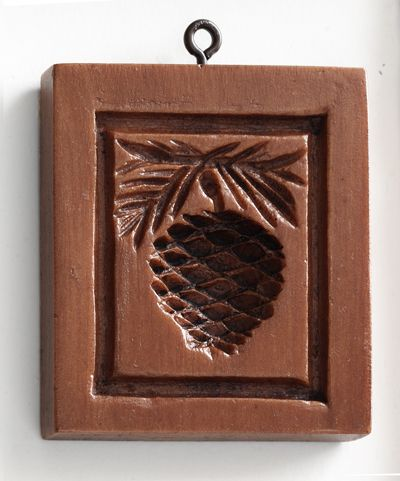 pine cone cookie stamp