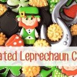 decorated leprechaun cookies