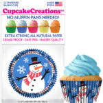 snowman cupcake cups