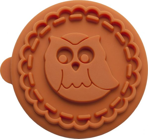 owl cookie stamp