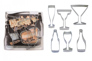 beverage party cookie cutter set