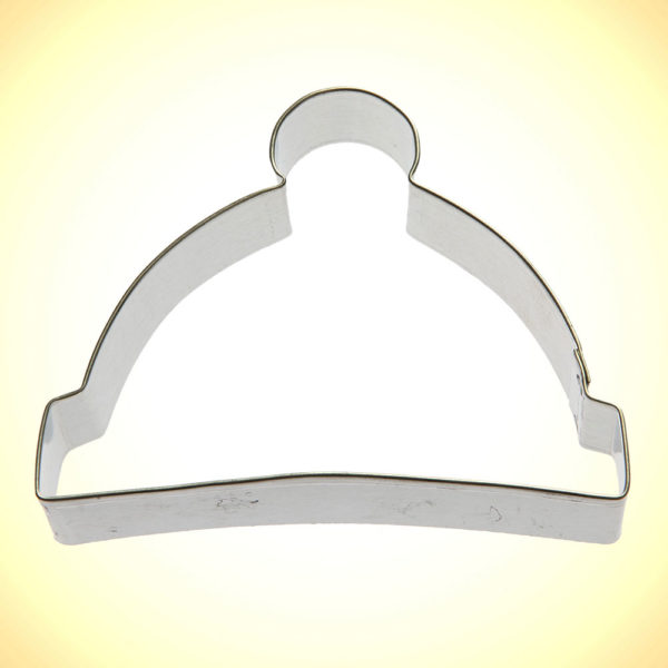 winter cap cookie cutter
