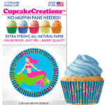 mermaid cupcake baking cups