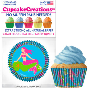 mermaid cupcake baking cups